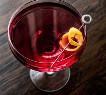 Portfashioned cocktail fra Copenhagen Cocktail Academy og Vinimondo til online portvinssmagning
