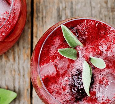Blackberry and sage cocktail fra Copenhagen Cocktail Academy og Vinimondo til online portvinssmagning og portvinsscocktails